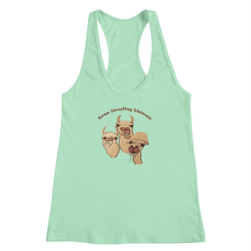 Tres Drooling Llamas Women's Racerback Tank by peacewild's Artist Shop