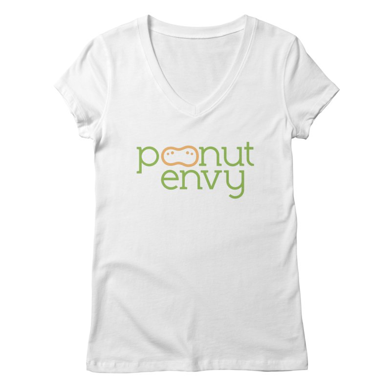 The Original in Women's Regular V-Neck White by Peanut Envy's Thread Shop
