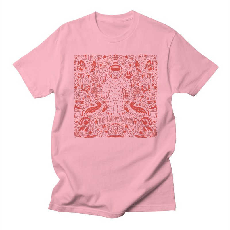 The Happy Wampa in Men's Regular T-Shirt Light Pink by Peasant Clothing Shop