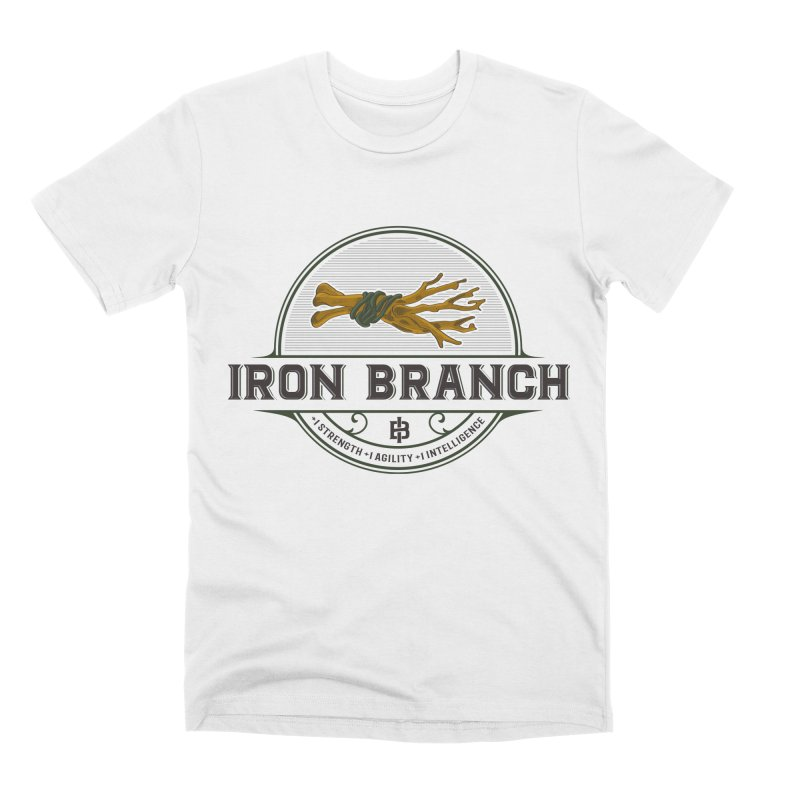 Iron Branch in Men's Premium T-Shirt White by Peasant Clothing Shop