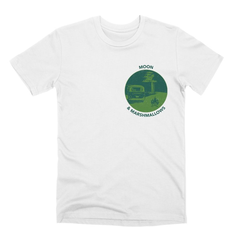 Moon & Marshmallows in Men's Premium T-Shirt White by Peasant Clothing Shop