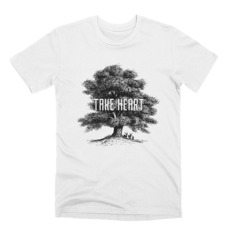 Take Heart in Men's Premium T-Shirt White by Peasant Clothing Shop