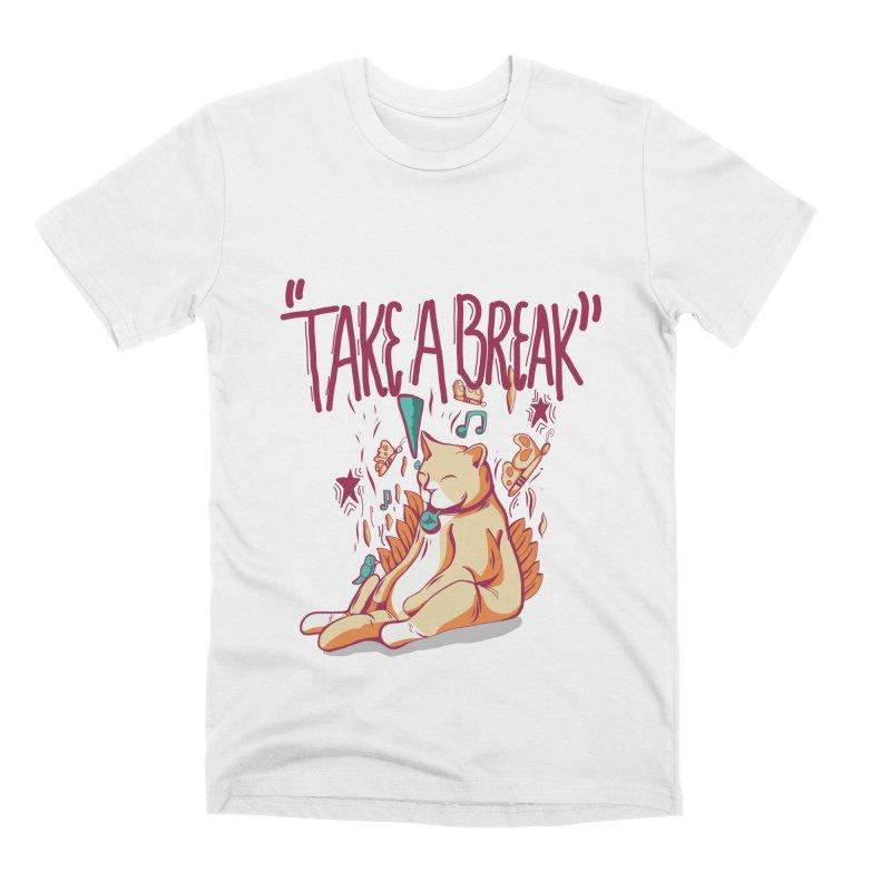 Take a Break Men's T-Shirt by Peasant Clothing Shop