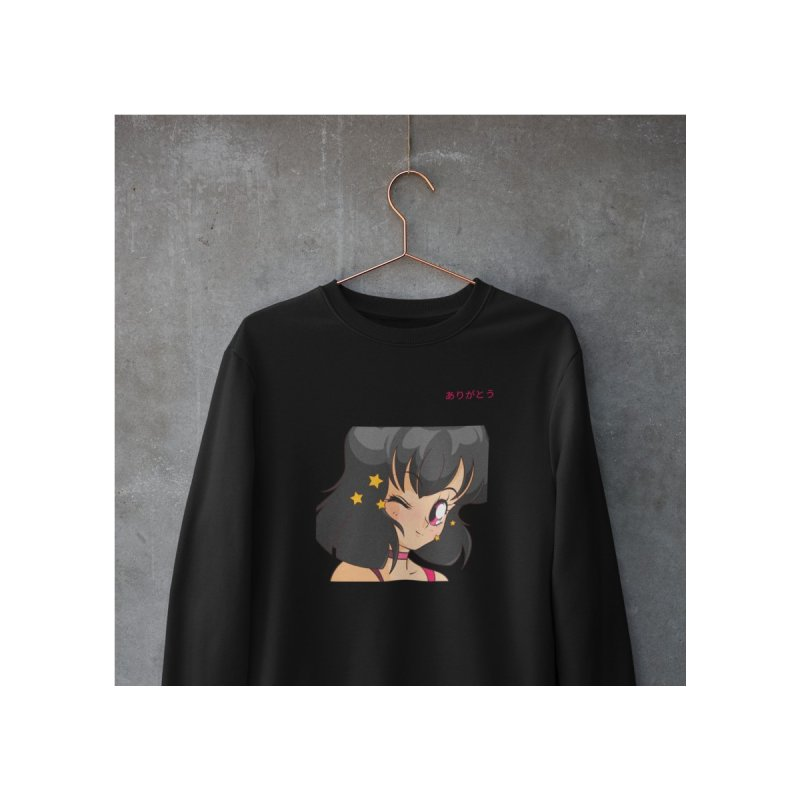 Thank You (ありがとう) Men's Sweatshirt by Peasant Clothing Shop