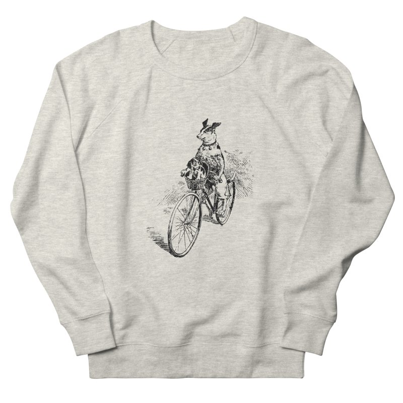 Off to grandma's in Men's French Terry Sweatshirt Heather Oatmeal by Peasant Clothing Shop