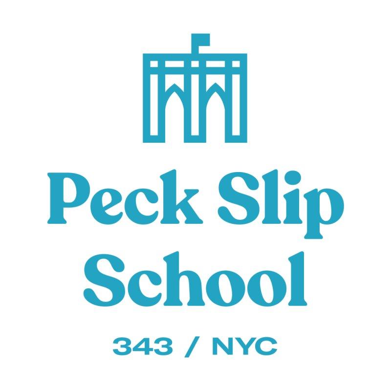 Peck Slip Cyan Men's T-Shirt by Peckslipmerch's Artist Shop