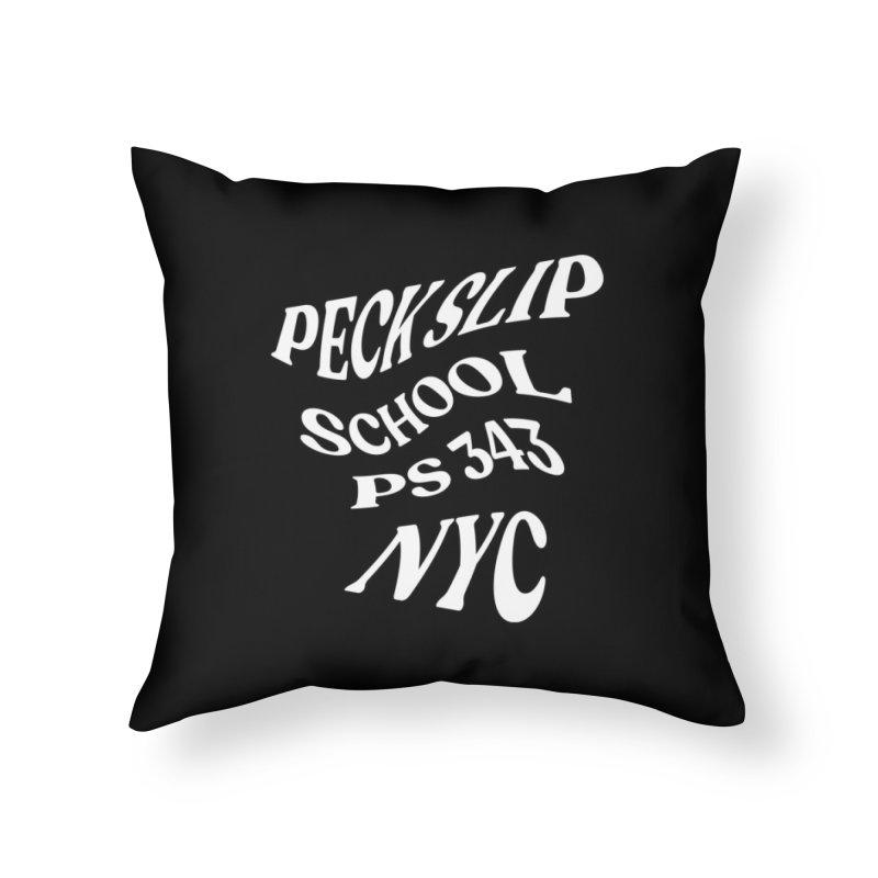 Pro-Social Social Club Warp - Black Background Home Throw Pillow by Peckslipmerch's Artist Shop