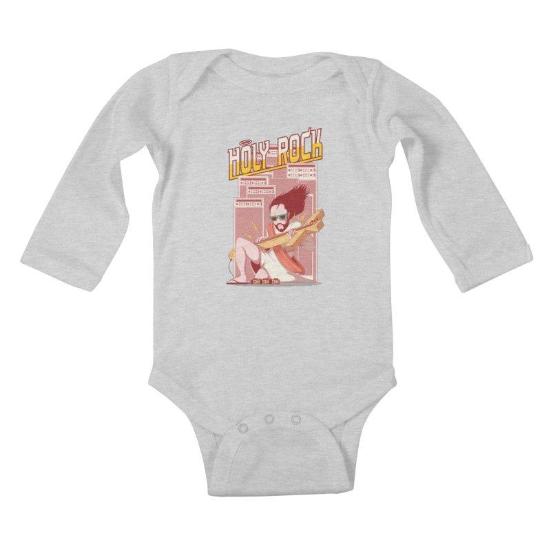 Holy Rock Kids Baby Longsleeve Bodysuit by pedrorsfernandes's Artist Shop