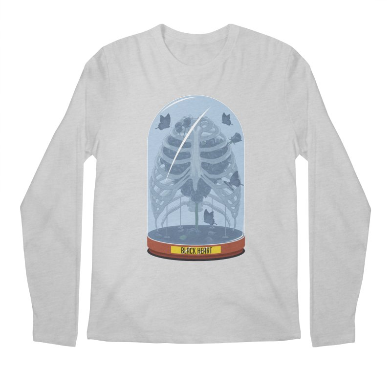Black Heart Men's Longsleeve T-Shirt by pedrorsfernandes's Artist Shop