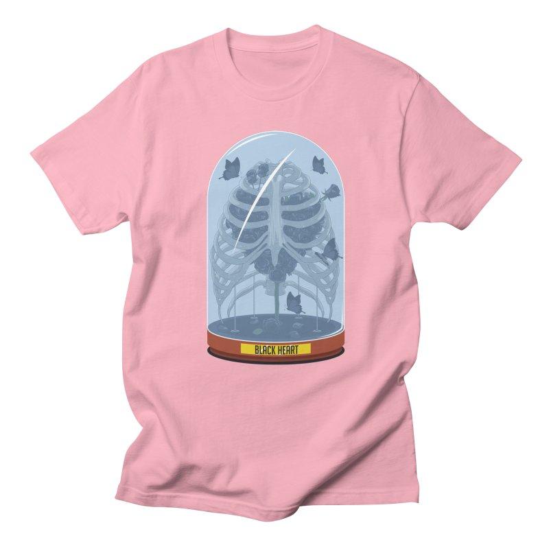 Black Heart Men's T-Shirt by pedrorsfernandes's Artist Shop