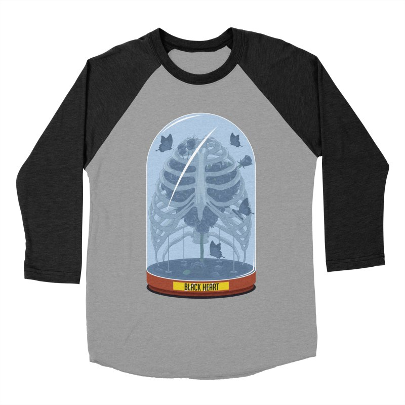 Black Heart Men's Baseball Triblend T-Shirt by pedrorsfernandes's Artist Shop