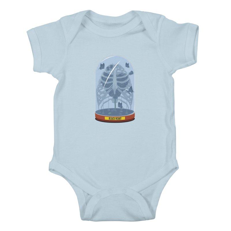 Black Heart Kids Baby Bodysuit by pedrorsfernandes's Artist Shop