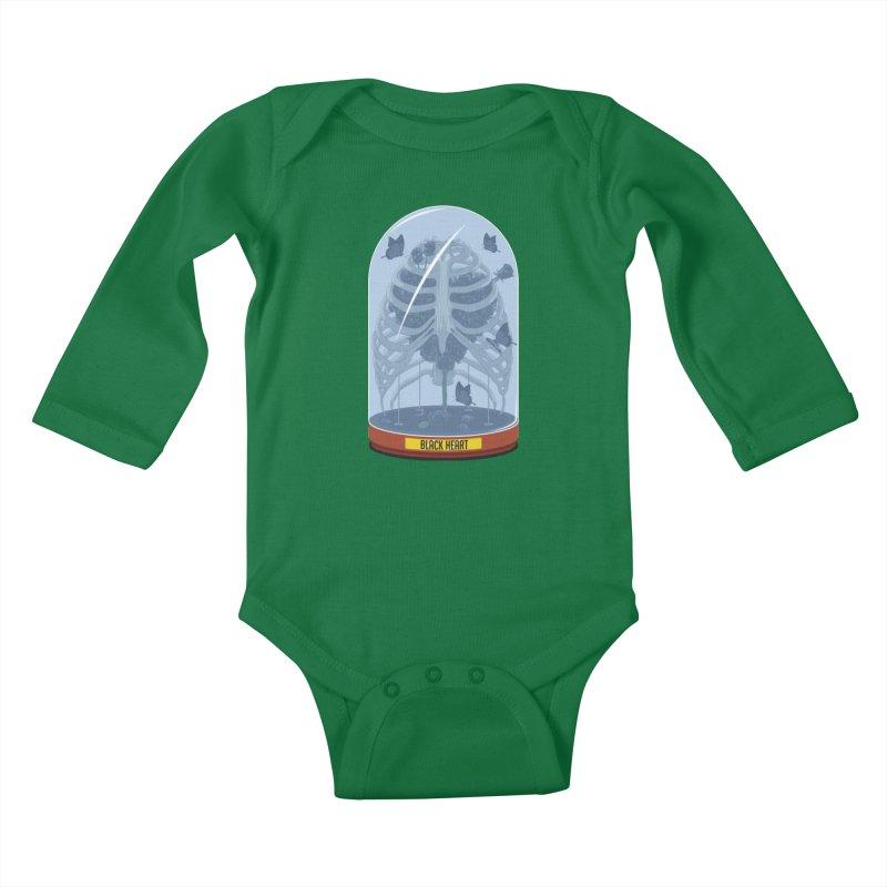 Black Heart Kids Baby Longsleeve Bodysuit by pedrorsfernandes's Artist Shop