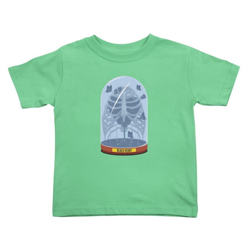 Black Heart Kids Toddler T-Shirt by pedrorsfernandes's Artist Shop