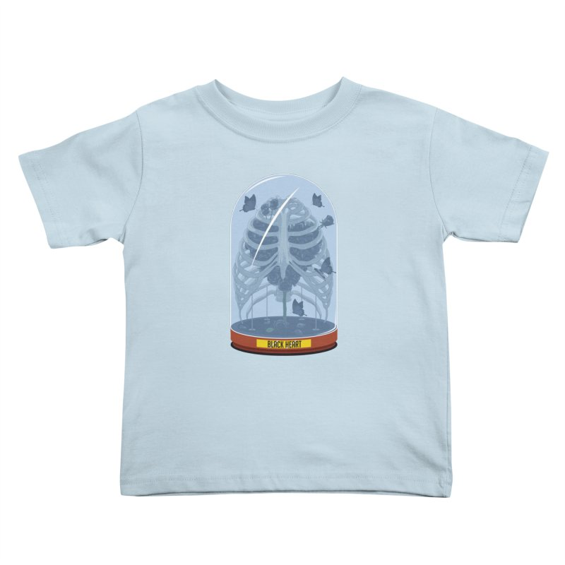 Black Heart Kids Toddler T-Shirt by pedrorsfernandes's Artist Shop