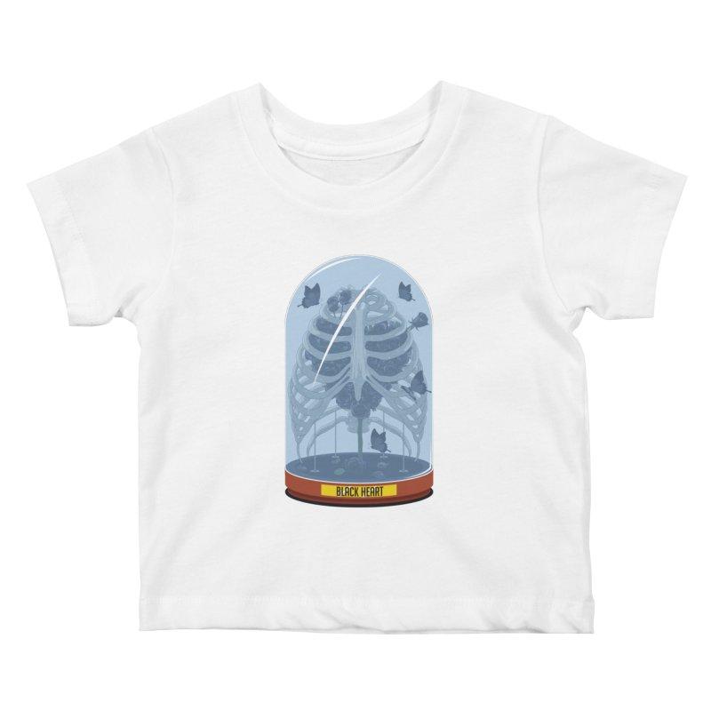 Black Heart Kids Baby T-Shirt by pedrorsfernandes's Artist Shop