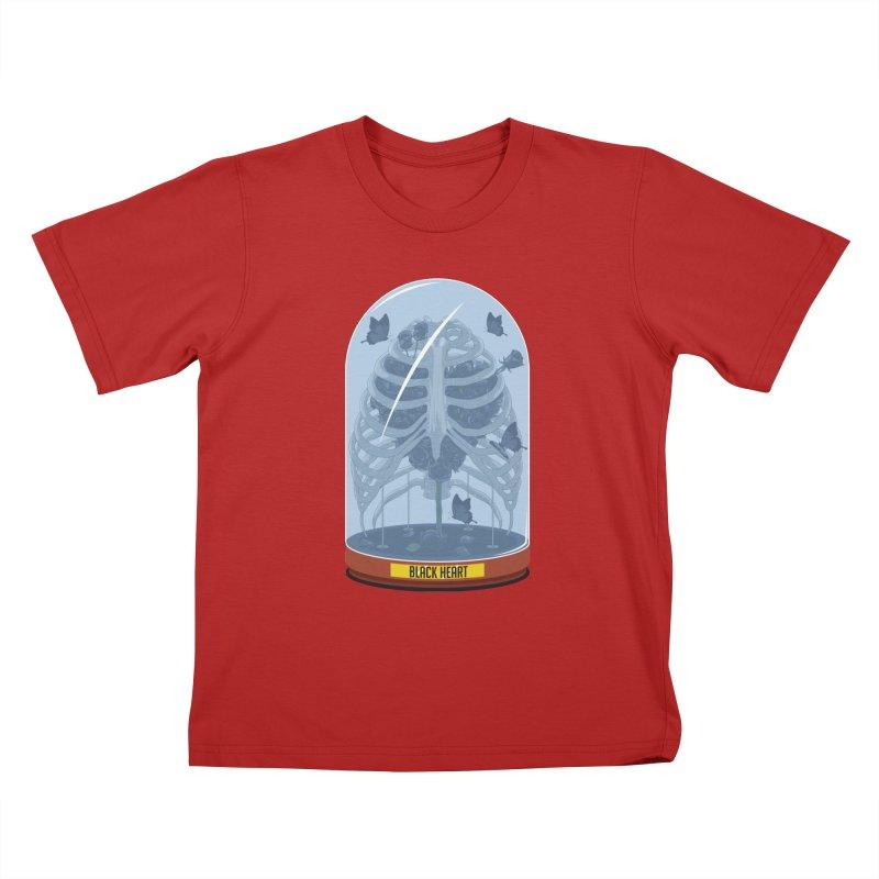 Black Heart Kids T-shirt by pedrorsfernandes's Artist Shop