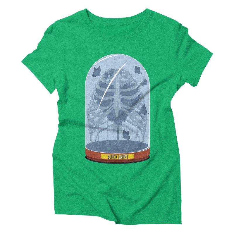 Black Heart Women's Triblend T-shirt by pedrorsfernandes's Artist Shop