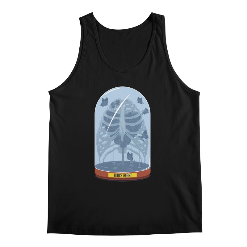 Black Heart Men's Tank by pedrorsfernandes's Artist Shop