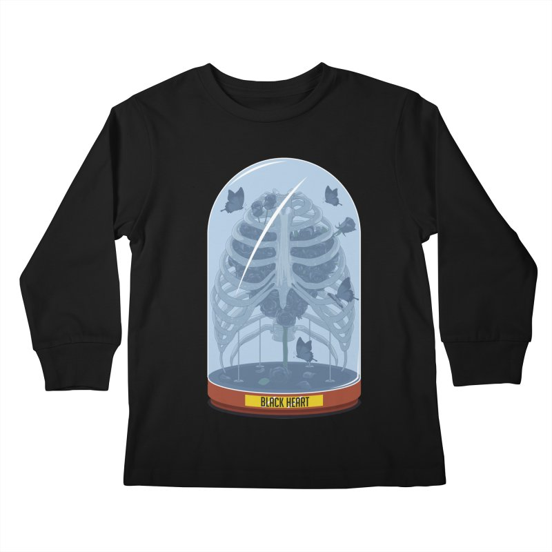Black Heart Kids Longsleeve T-Shirt by pedrorsfernandes's Artist Shop