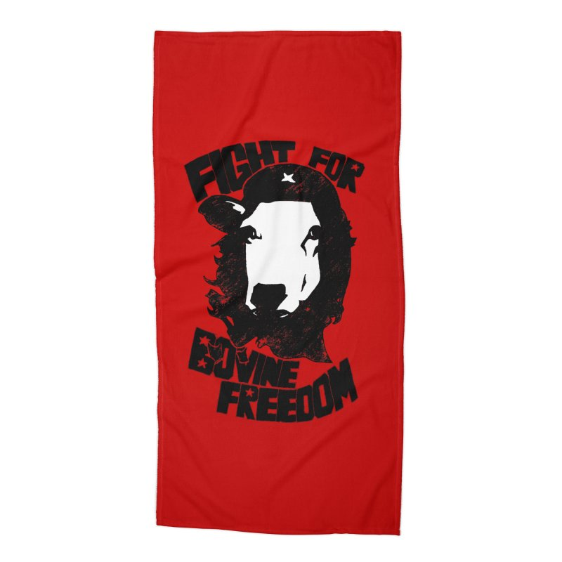 Fight For Bovine Freedom Accessories Beach Towel by Peepal Farm's Shop