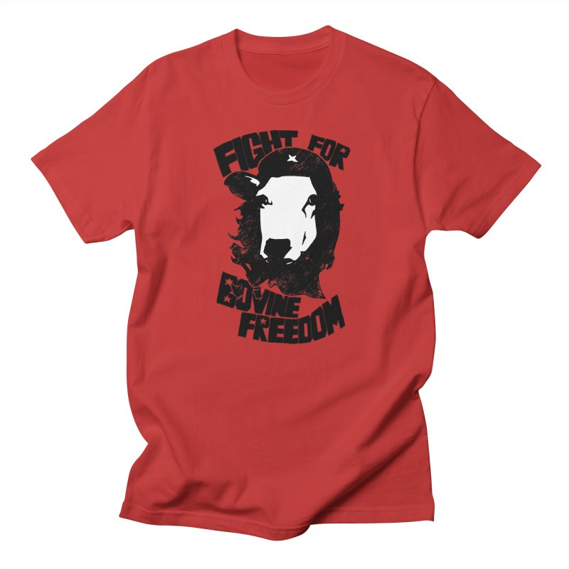 Fight For Bovine Freedom in Men's Regular T-Shirt Red by Peepal Farm's Shop