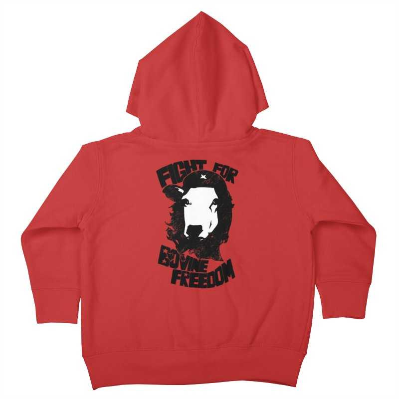 Fight For Bovine Freedom Kids Toddler Zip-Up Hoody by Peepal Farm's Shop