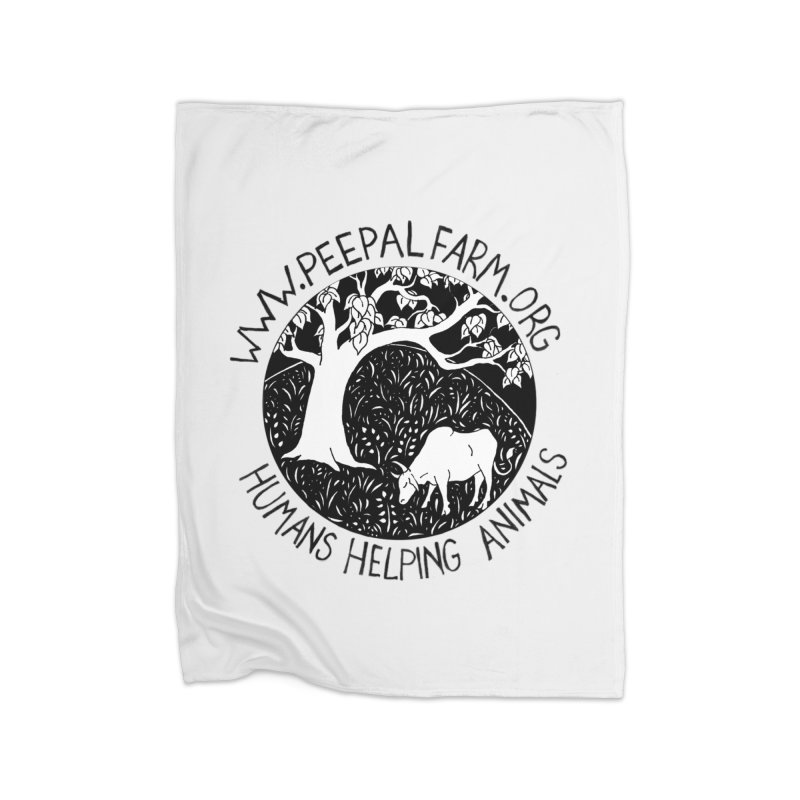 Help Animals Home Fleece Blanket Blanket by Peepal Farm's Shop