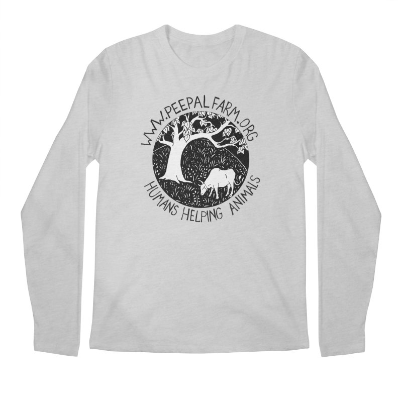 Help Animals Men's Regular Longsleeve T-Shirt by Peepal Farm's Shop
