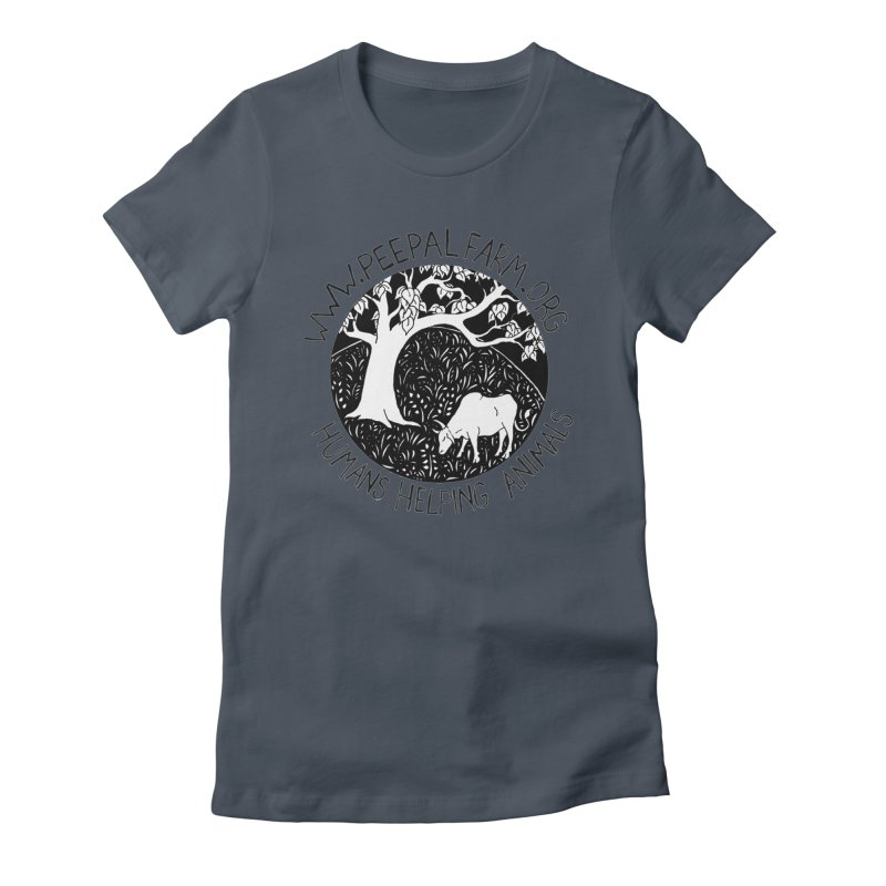 Help Animals Women's Fitted T-Shirt by Peepal Farm's Shop