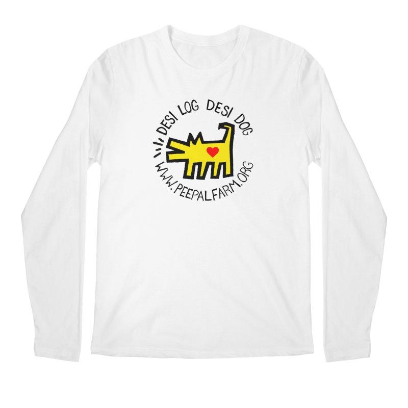 Desi Log Desi Dog Men's Regular Longsleeve T-Shirt by Peepal Farm's Shop