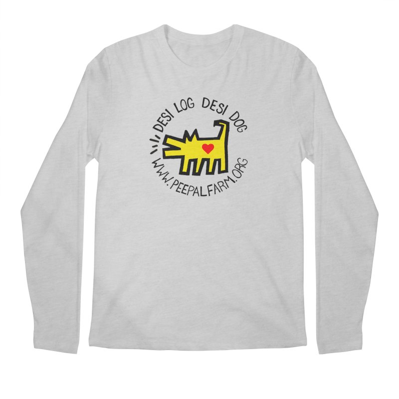 Desi Log Desi Dog Men's Regular Longsleeve T-Shirt by Peepal Farm's Shop