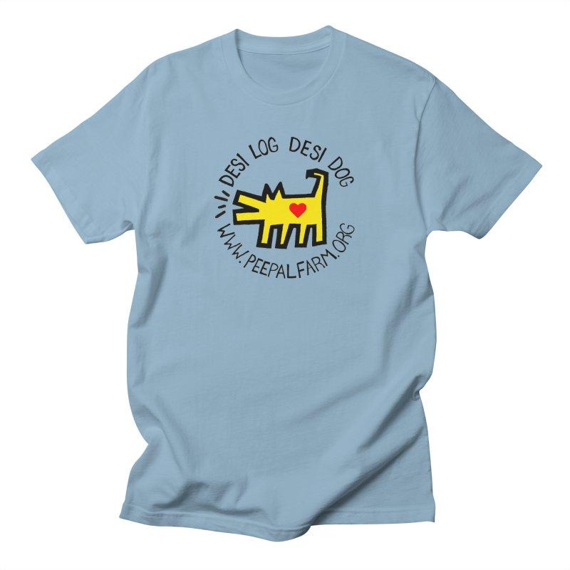 Desi Log Desi Dog Men's Regular T-Shirt by Peepal Farm's Shop