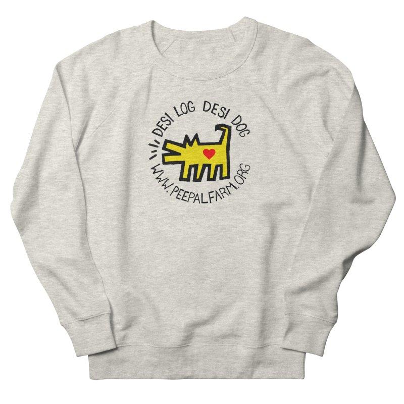 Desi Log Desi Dog Men's French Terry Sweatshirt by Peepal Farm's Shop