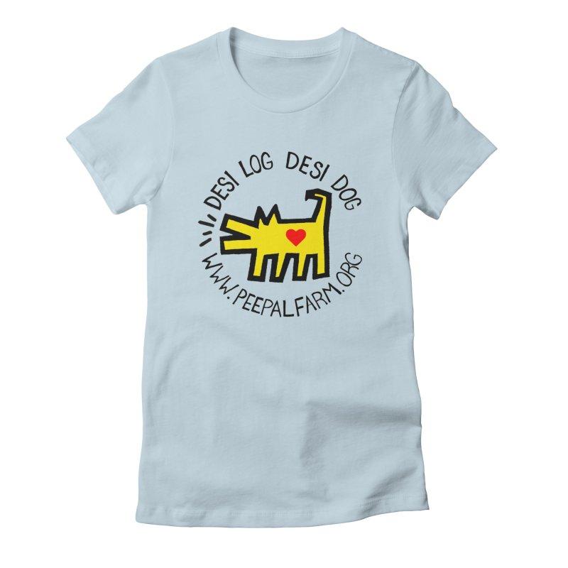 Desi Log Desi Dog Women's Fitted T-Shirt by Peepal Farm's Shop