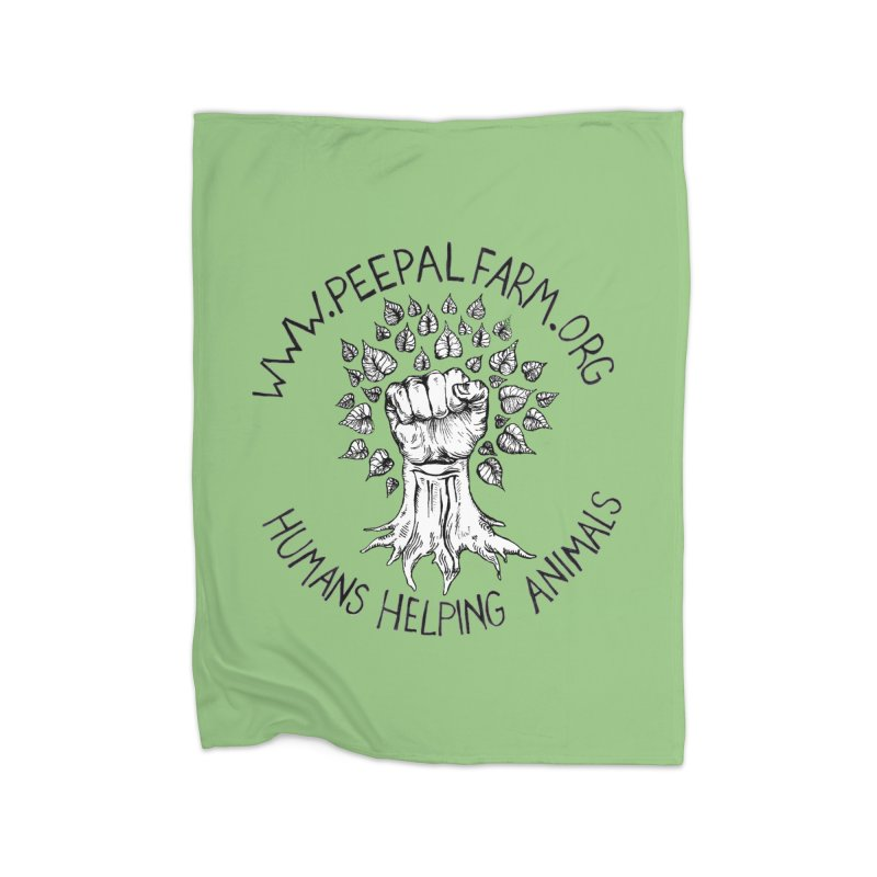 Power to the Peepal Home Fleece Blanket Blanket by Peepal Farm's Shop