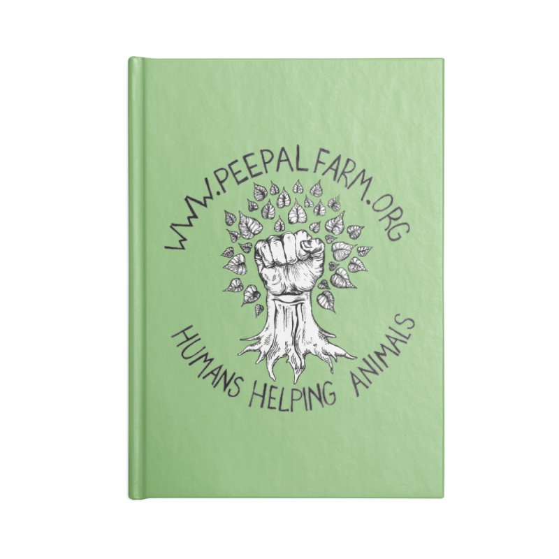 Power to the Peepal Accessories Blank Journal Notebook by Peepal Farm's Shop