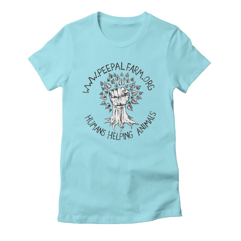 Power to the Peepal Women's Fitted T-Shirt by Peepal Farm's Shop