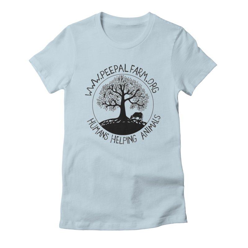 Peepal Farm Women's Fitted T-Shirt by Peepal Farm's Shop