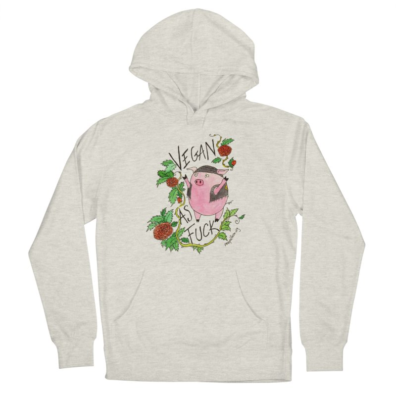 Vegan AF Women's French Terry Pullover Hoody by Peepal Farm's Shop