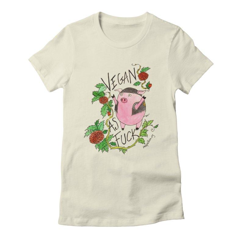 Vegan AF Women's Fitted T-Shirt by Peepal Farm's Shop