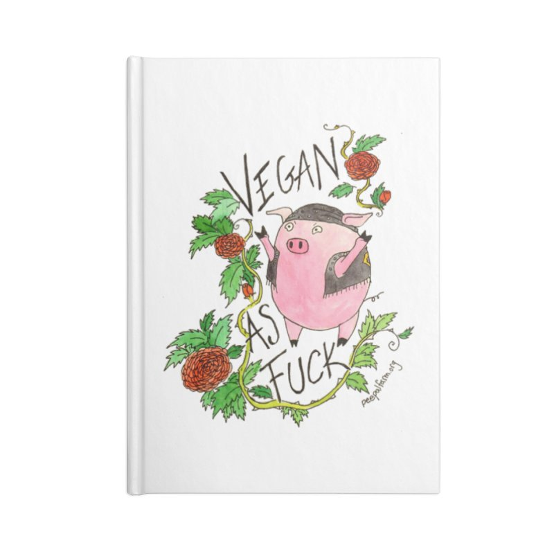 Vegan AF Accessories Notebook by Peepal Farm's Shop