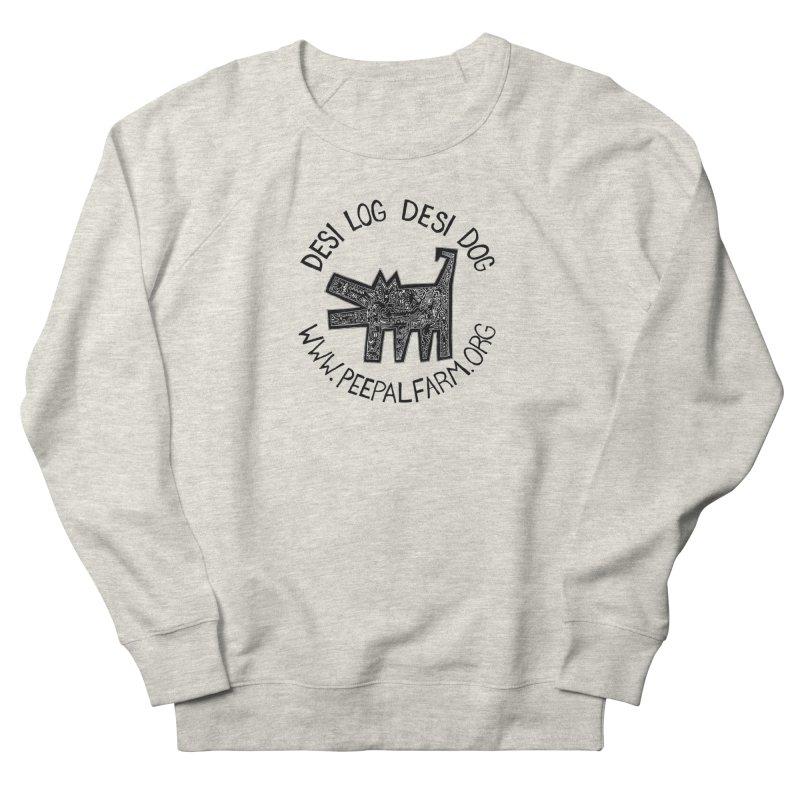 Desi Dog Jumble Men's French Terry Sweatshirt by Peepal Farm's Shop