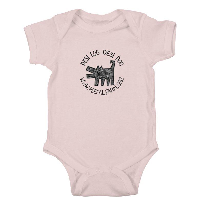 Desi Dog Jumble Kids Baby Bodysuit by Peepal Farm's Shop