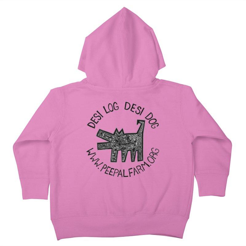 Desi Dog Jumble Kids Toddler Zip-Up Hoody by Peepal Farm's Shop