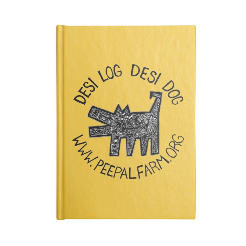 Desi Dog Jumble Accessories Notebook by Peepal Farm's Shop