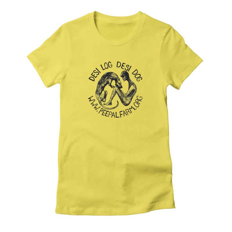 Adopt Desi Women's Fitted T-Shirt by Peepal Farm's Shop