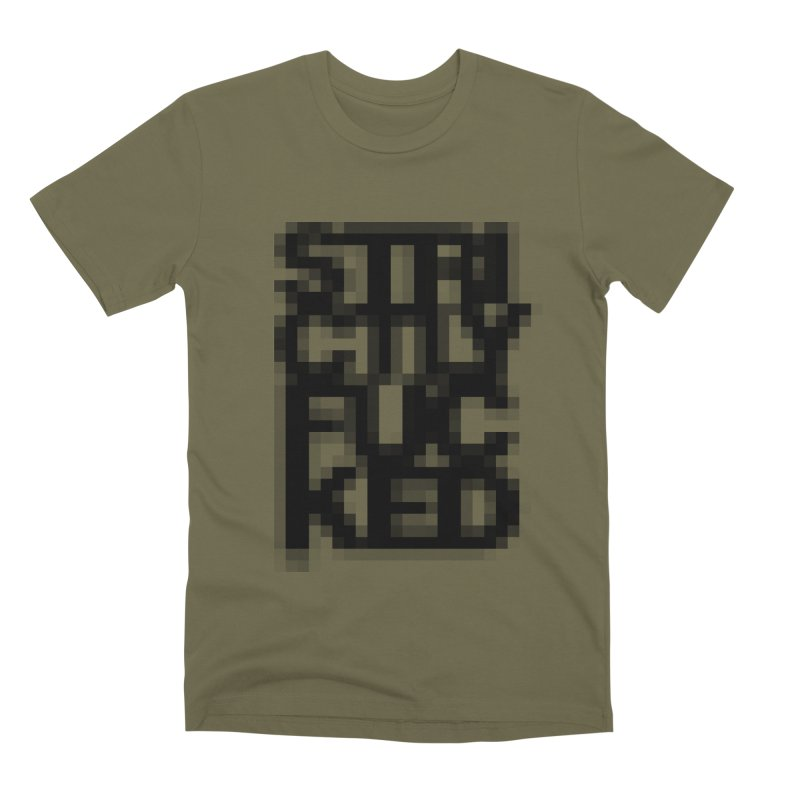SFCKD No. 1 BLCK pxl Men's Premium T-Shirt by Peer Kriesel's Artist Shop