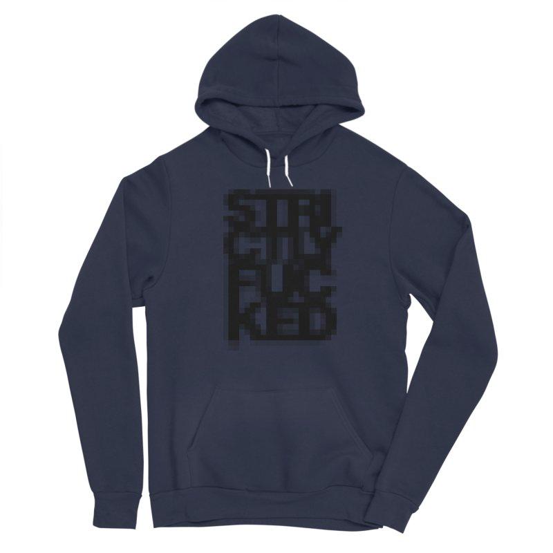 SFCKD No. 1 BLCK pxl Women's Sponge Fleece Pullover Hoody by Peer Kriesel's Artist Shop
