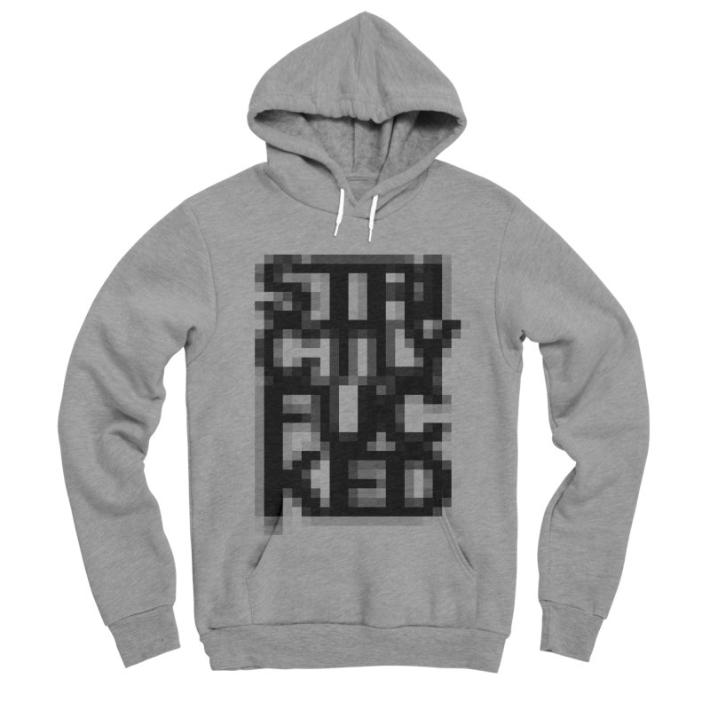 SFCKD No. 1 BLCK pxl Men's Sponge Fleece Pullover Hoody by Peer Kriesel's Artist Shop